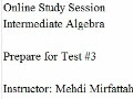 Practice Test 4 Solutions to #21b, 22b, 26, 32