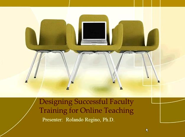 OTC13: Designing Successful Faculty Training for Online Teaching