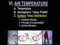 VI. AIR TEMPERATURE - 10