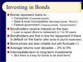 Chapter 11 - Slides 29-51 ‑ Investing in Bonds