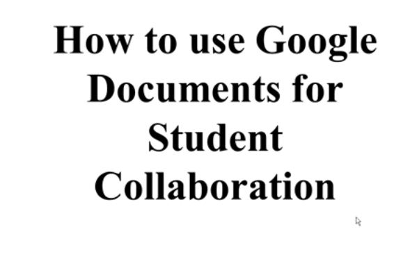 OTC13: How to Use Google Documents for Student Collaboration