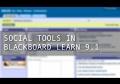 New Social Tools in Blackboard Service Pack 10