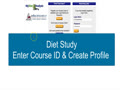 1.2 Diet Study Part 1 Step 2 Course ID and Profile